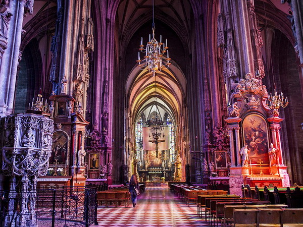 Interior of St. Stephen's Cathedral,Vienna, Austria, Europe