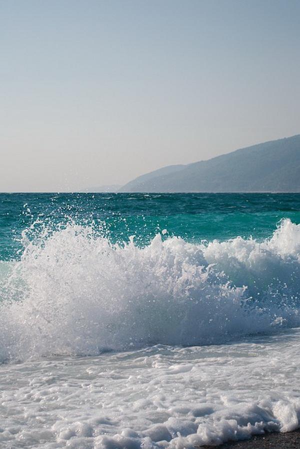 Побережье моря в Абхазии