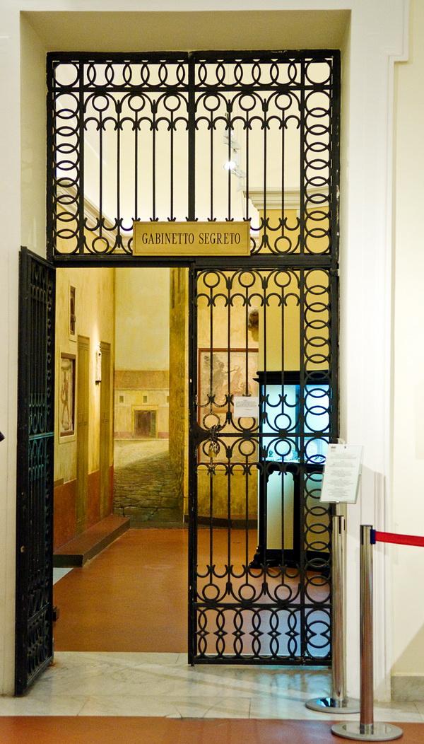 Секретный кабинет в археологическом музее Неаполя