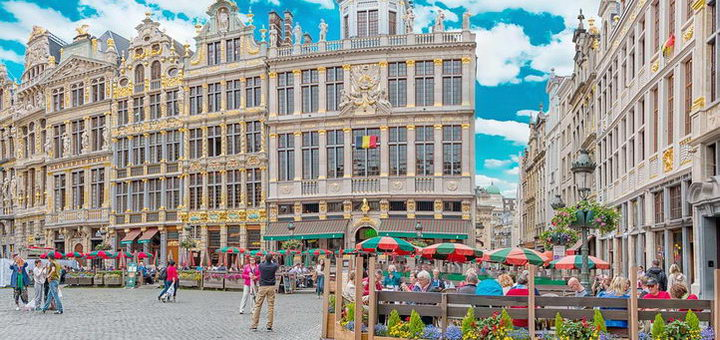 Рыночная площадь в Бельгии