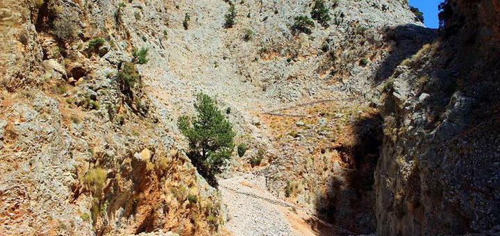 Патсос и пещера в ущелье