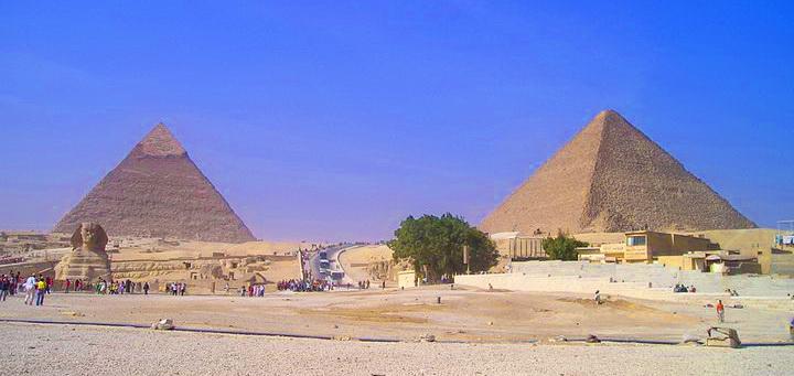 Панорама на пирамиду Хеопса