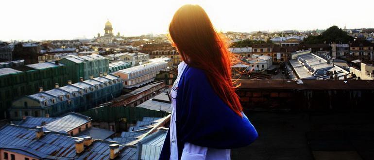 фотки с крыши петербурга
