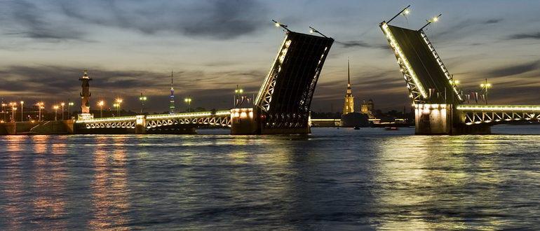 ночная экскурсия по санкт петербургу разводные мосты
