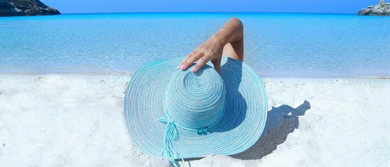 отдых на пляже летом